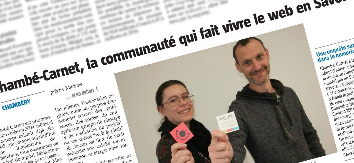 #revuedepresse : Chambé-Carnet dans l'essor savoyard