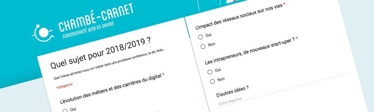 #sondage : quel sujet pour 2018/2019 ?