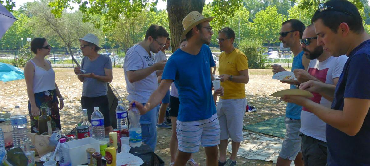 #piquenique : barbecue, canicule et bonne humeur