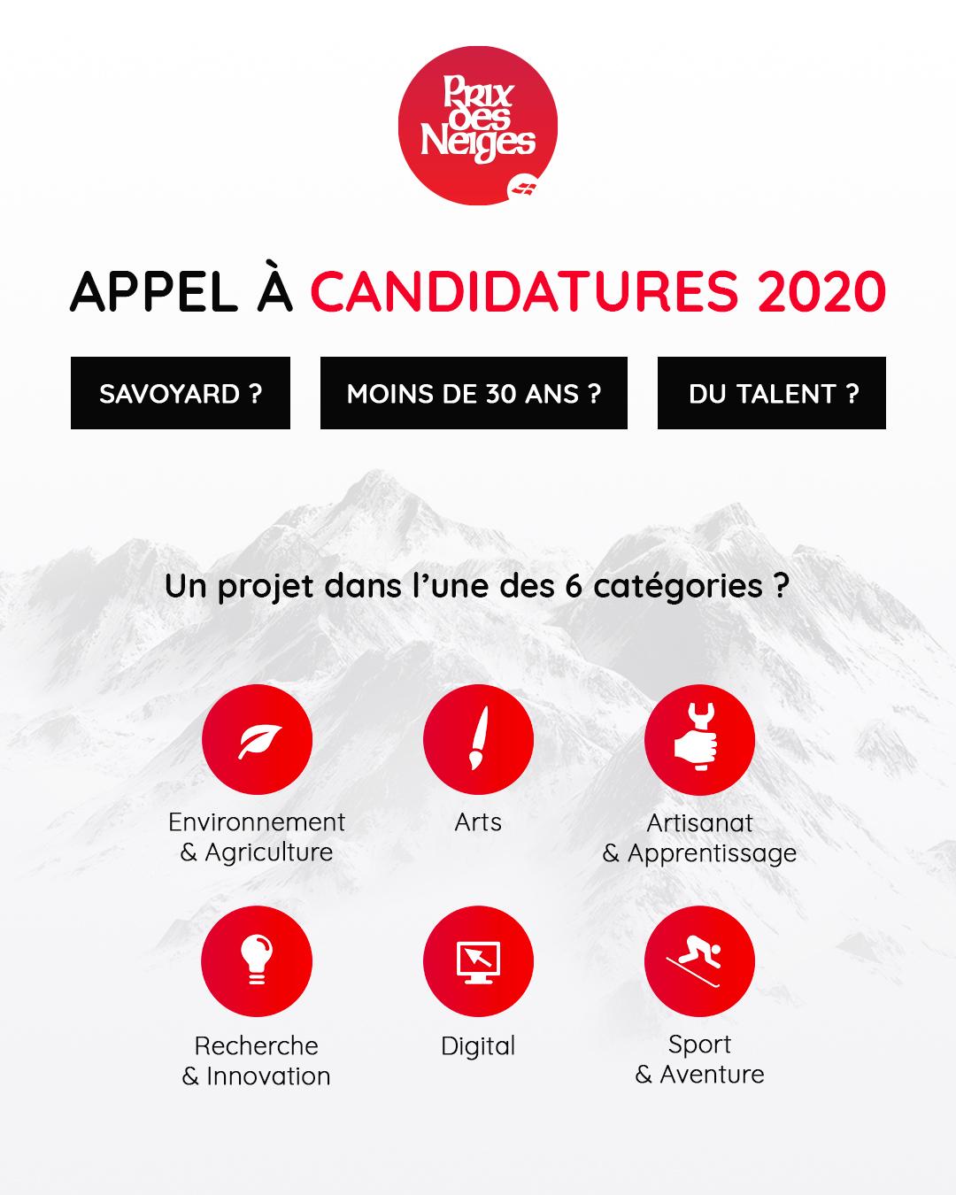 #candidatures : Candidatez au Prix des Neiges 2020 dans la catégorie Digital